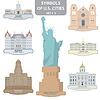 Symbole der Städte von USA