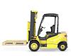 黄色叉车与托盘 | 光栅插图