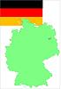 Deutschland, Deutschland Flagge und Karte,
