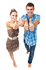 Junges Paar glücklich zeigt ok | Stock Photo