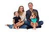 Szczęśliwa rodzina. Ojciec, matka i dzieci | Stock Foto