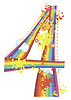 Dekorative Regenbogen-Ziffer