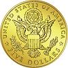 Amerikanisches Geld, Gold-Dollar mit Adler