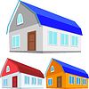 Set of colored houses | Stock Vector Graphics