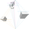 Geschenk-Boxen in zwei-Punkt-Perspektive | Stock Vektrografik