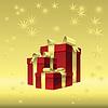 roten Geschenk-Box mit Gold Schleife