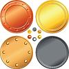 Set aus Gold, Silber, Bronze Münzen