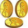 Gold American Geld Münze mit Lincoln verschiedener