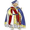 lustige Märchen cartoon König lächelt