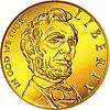 Amerikanisches Geld Goldmünze einem Dollar
