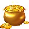 St. Patrick `s Day gold Topf mit Münzen