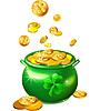 St. Patrick `s Day grünen Topf mit Goldmünzen