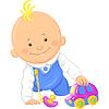 cute baby boy spielen mit Spielzeugauto