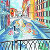 Landschaft Seufzerbrücke in Venedig