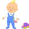 cute baby boy laufen lernt