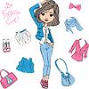 schöne Mode Mädchen Top-Modelle
