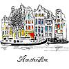 Amsterdam-Kanal und typisch holländischen Häusern