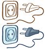Elektrische Stecker und Steckdose