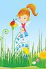 Fairy auf der Wiese