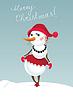 Weihnachts-Schneemädchen