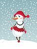 Weihnachten Schneemann-girl