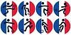 Fußball-Symbole auf Französisch Flagge