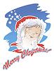 ID 3480256 | Portret Snow Maiden na kartki świąteczne | Klipart wektorowy | KLIPARTO
