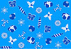 Nahtlose blauem Hintergrund für Weihnachten | Stock Illustration