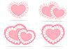 Set von stilisierten Herzen | Stock Vektrografik