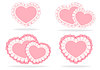 Zestaw stylizowane serca | Stock Vector Graphics