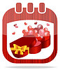Icon calendar Valentine`s Day | Stock Vector Graphics