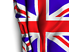 Wehende Flagge von Großbritannien - Großbritannien