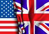 Flagge von Großbritannien mehr als USA-Flagge