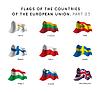 Flaggen der EU-Länder