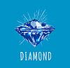 Diamant in der Vorderansicht