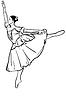 Skizze girl `s ballerina stehen in Pose