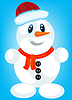 Festliche Schnee Person