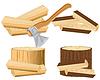 Axe und Brennholz