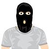 Personen in der schwarzen Maske