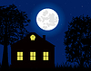 Haus in der Nacht