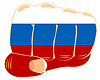Flagge zu Russland auf Faust