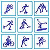 Set schwarz mit Schatten sport icons