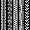 Set von detaillierten Reifen Drucke,