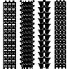 Set von detaillierten spur Traktor Drucke