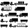 Set von Icons - Transport Symbole. Schwarz