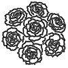 Große Strauß Rosen