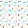seamless wallpaper Kinder `s Zeichnungen von Sonne und