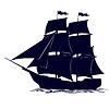 Kontur des alten Segelschiffes