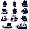 Konturen von Segelschiffen