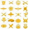 Kragenspiegel-Abzeichen der russischen Armee | Stock Vektrografik